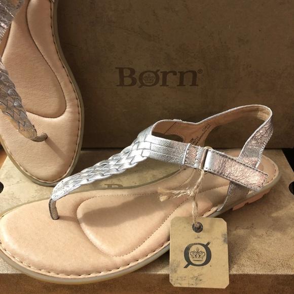 e618811ed3622 BORN women YARRA Braided Strap Sandals Gold 10 M